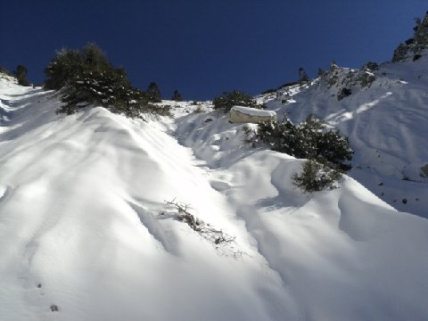 Steep Snowy Headwall