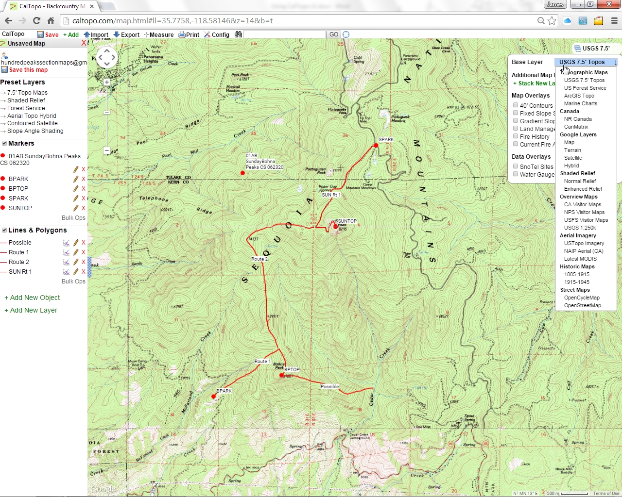 USING CALTOPO WITH HPS MAPS - Us forest service ecoregion map
