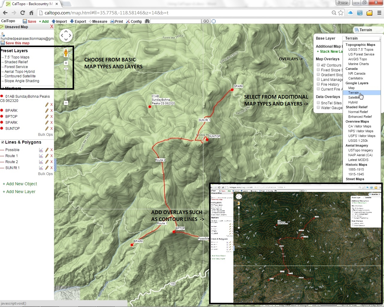 USING CALTOPO WITH HPS MAPS - Us forest service topographic maps