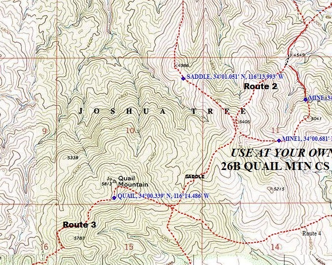 Joshua Tree Topographic Map.Quail Mountain